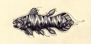 Coelacanth Tattoo Design by Tsairi