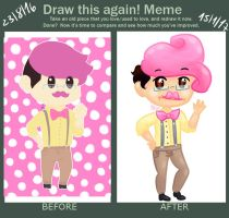 Before and After - Wilford Warfstache by UiritasFujoshi
