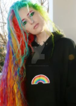 Rainbow Hair In 19 Colors by wisely-chosen