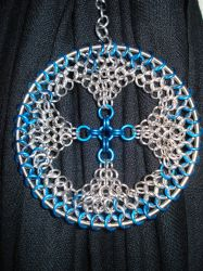 Blue Chainmail Ornament by Loki-Craft