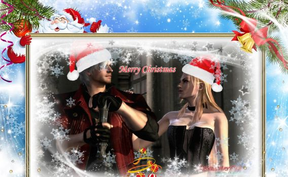 Merry Christmas! [Dante and Trish] by Sparda-Trish