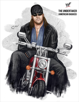WWF The Undertaker (American Badass) by baguettepang