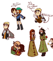 MORE MCSM DOODLES by LazyCrocodile