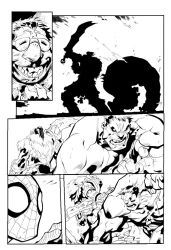 Avenging-spider-man page-18 Inking by artyvicky