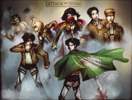 Attack on Titan by Alyvia-Write