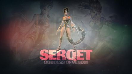 SMITE - Serqet, Goddess of Venom (Wallpaper) by Getsukeii