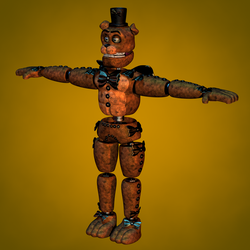 Stylised Withered Freddy WIP 2 by Popi01234