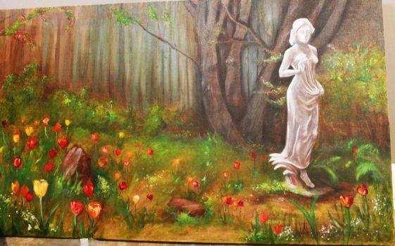 Oil Painting for Ma Mommy by Underpants
