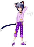 Purple Neko boy by tancho-koi
