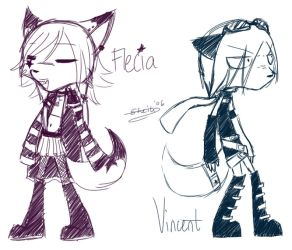 Zetapets - Flecia and Vincent by sheilayo