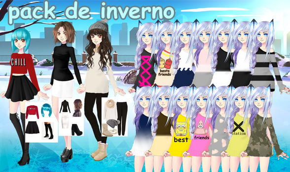 Pack De Inverno by pikachunita887