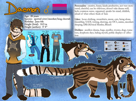 Daemon Reference Sheet 2016 (fursona) by Spottedfire23