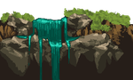 waterfall pixel art :o by Allaze-eroler
