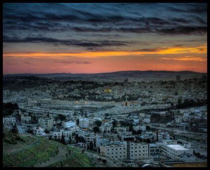 Jerusalem Sunset by IrregardlessInc