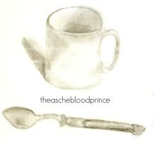 Sketch Book Mug and Spoon by theaschebloodprince