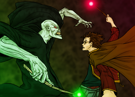 Harry v. Voldemort by droo216