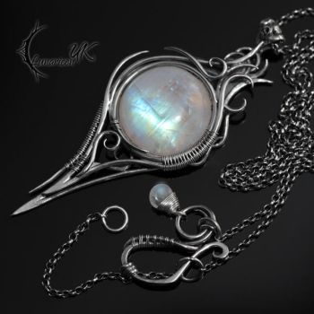 INZANRDIELL - silver and moonstone by LUNARIEEN