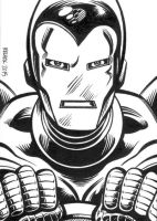 Sketch Card: Iron Man by dalgoda7