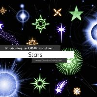 Stars Photoshop and GIMP Brushes by redheadstock