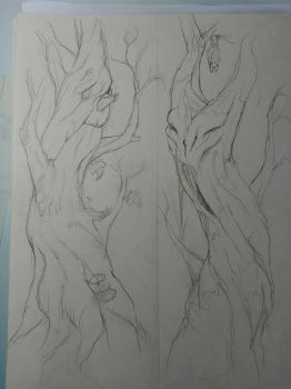 Good tree, evil tree by Lucbannon