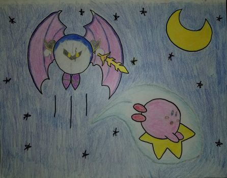 66 Kirby and Metaknight by asantedaace