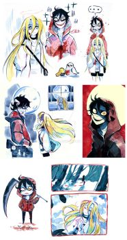 Angels of death - doodles by Owlyjules