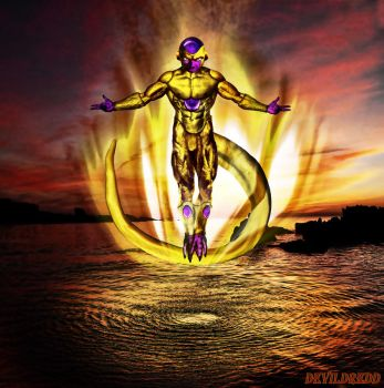 Golden Frieza by devildredd