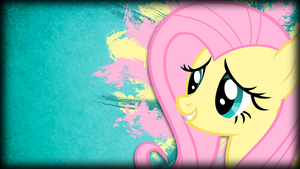 Grunge Fluttershy Wallpaper by TwopennyPenguin
