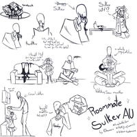 Roommate Sulker AU by A-Dreamare