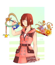 KHIII Kairi with her keyblade Fanart by KarmaKairi