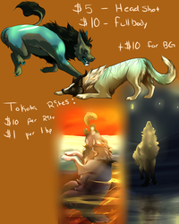 Commission Sheet :: Normal and Tokota's by Blackbrier