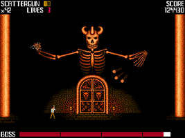 Hell's Guardian - retro games inspired art by elementiro
