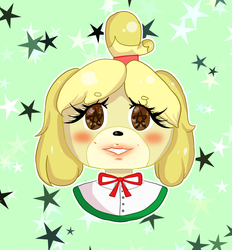 Isabelle - Animal Crossing by sweetpea-art