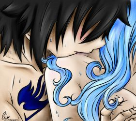 Gruvia Week, Day 1: Hair. by charswarrenxo