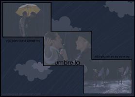 Glee - Umbrella by wunderpuss
