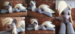 Lifesize Derpy Hooves plush by RosaMariposaCrafts