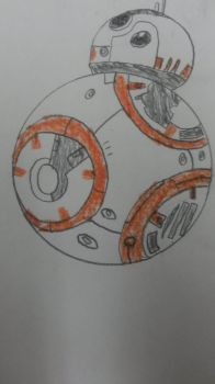 My drawing of BB-8 by TheCartoonWizard
