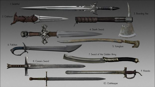 Skyrim - Ghosu's Weapon Pack Mod by LeckerHamster