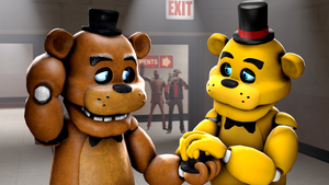 The apology-Freddy and Golden Freddy by TalonDang