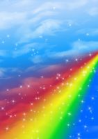 FREE: Sky + Rainbow Background by Magical-Mama