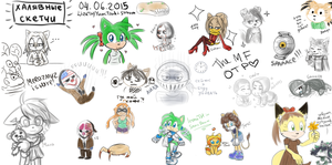 Sketches from stream by lizathehedgehog