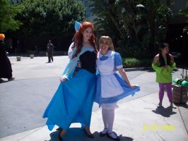 Ariel and Alice cosplay by foxanime101