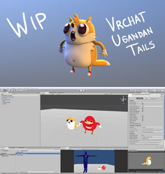 Ugandan Tails 3D +WIP+ by luanton