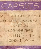 Capsies Font by punksafetypin
