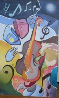 Music oil painting by ByLouis