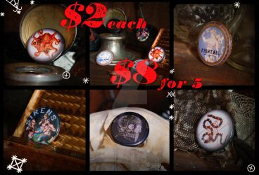 Buttons for sale by Terra-fen