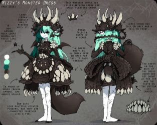 Mizzy's Monster Dress Reference by bezzalair