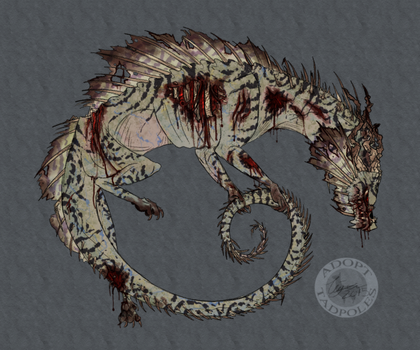 (CLOSED) Zombie Dragon by Adoptadpoles
