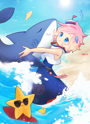 Summer,friends of the ocean! by miliangmu
