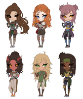 .: RPG Adoptables 5 - 1 LEFT! :. by TheRedCrane
